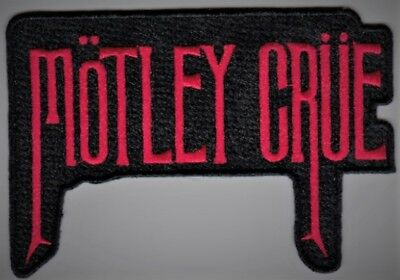 MOTLEY CRUE - RED LOGO - IRON Or SEW ON PATCH • 4.26£