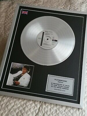 Michael Jackson Limited Edition Framed Thriller CD Platinum Disc Authenticated • 95.99£