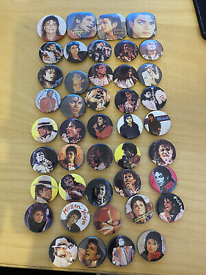 Michael Jackson Badges Pins Collection Vintage 80's • 40£