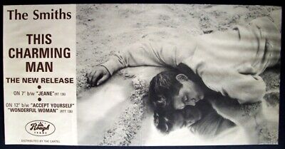 THE SMITHS 'THIS CHARMING MAN' ORIGINAL ROUGH TRADE 1983 PROMO POSTER Morrissey • 300£