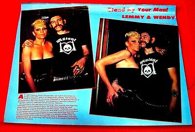 Lemmy/Wendy O.Williams Vintage ORIG 1982 Kerrang Full Page ARTICLE/PHOTOS/POSTER • 1.99£