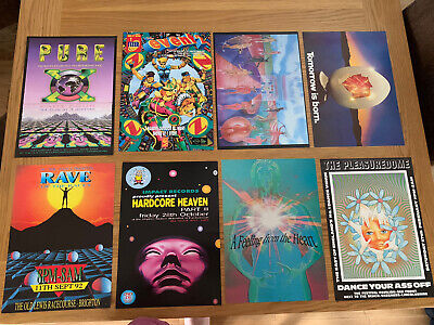 8 Various Rave Flyers • 5.50£