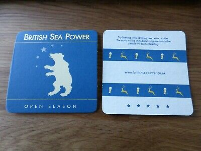 BRITISH SEA POWER - 2x Original Open Season Beermats - UK Tour 2005 - NEW • 1.99£