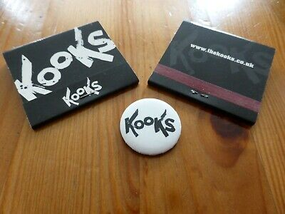 THE KOOKS - Official Button Badge & 2 Matchbooks Inside In / Inside Out Release • 1.99£