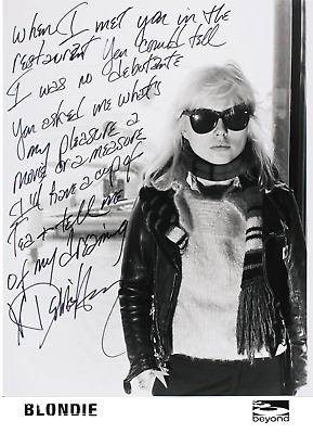 Blondie Debbie Harry Signed Lyrics Photo + Poster 8 X 11 Laminated Autograph • 4.99£