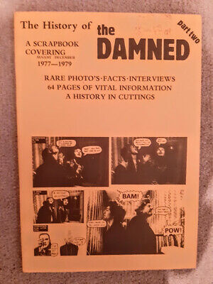 The Damned  A History Of  Part 2 1977-1979 Vintage 1980s Original RARE • 19.99£