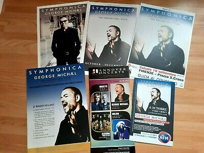 George Michael Bundle Of 6 Leaflets/flyers From The Symphonica Tour Europe & UK • 4.20£