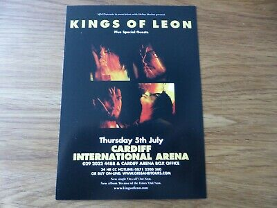KINGS OF LEON - 2x Rare UK Tour Flyers Cardiff 2007 / Manchester 2011 - NEW • 1.99£