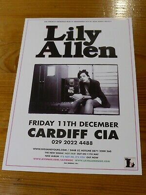 LILY ALLEN - Original UK Tour Flyer - Cardiff CIA 11th December 2009 - NEW  • 0.99£
