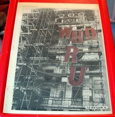 The Who Who Are You Vintage ORIGINAL 1978 Press/Magazine ADVERT Poster-Size • 2.99£