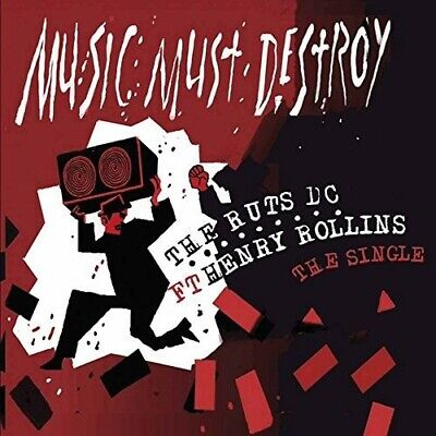 Ruts D.C. : Music Must Destroy Ft. Henry Rollins CD Expertly Refurbished Product • 12.99£