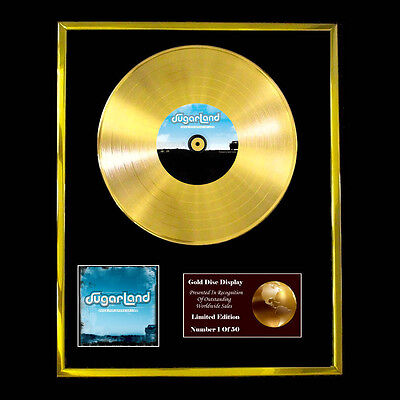 Sugarland Twice The Speed Of Life Cd  Gold Disc Vinyl Lp Free Shipping To U.k. • 160.95£
