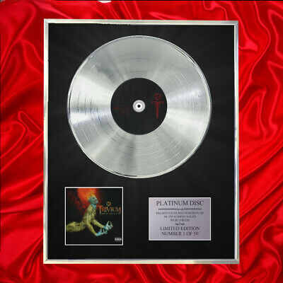 Trivium Ascendency Cd Platinum Disc Award Display • 167.97£