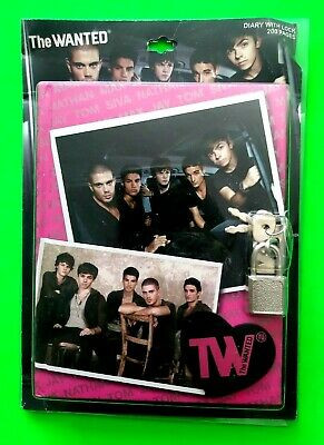The Wanted - Official 200 Page Secret Diary With Lock - New / Sealed  Max George • 2.50£