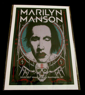 Marilyn Manson : House Of Blues 2017 : A4 Glossy Repo Poster • 3.99£
