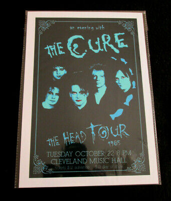 The Cure : The Head Tour 1985 Cleveland  : A4 Glossy Repo Poster • 3.99£