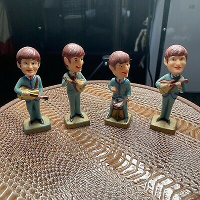 The Beatles Bobble Head Cake Toppers 1960's RARE • 50£