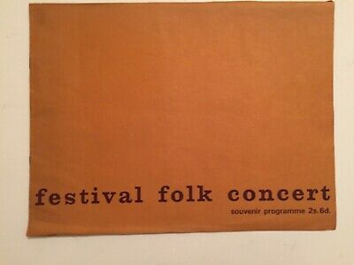 Royal Albert Hall:Folk Concert Programme, Watersons, New Lost City Ramblers 1967 • 8£
