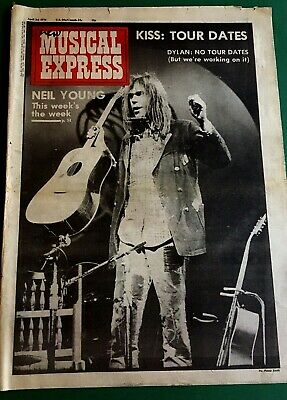 Neil Young Front Page 1976 New Musical Express Advert Poster  • 1.95£