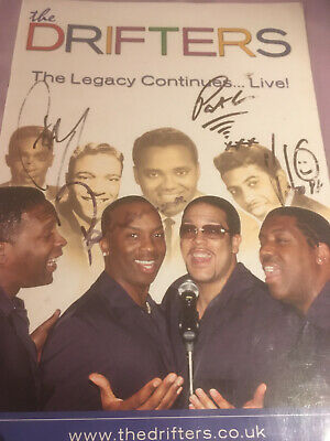 The Drifters Signed / Autographed Tour Programme, The Legacy Continues... Live!  • 19.95£