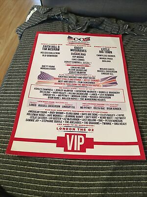 C2c Country To Country 2018 Poster Official Hill Mcgraw Musgraves Vip • 10.99£