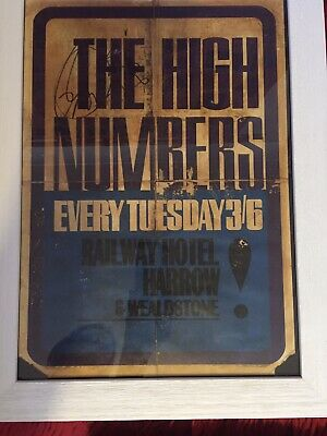 The High Numbers (who) - Extremely Rare (unique?) Flyer Harrow 1964 • 3,500£