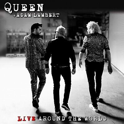 QUEEN And ADAM LAMBERT Live Around The World SIGNED CD Preorder Autographs • 299£