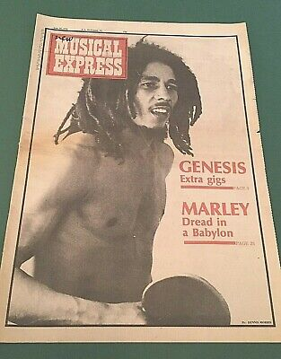 ORIG 1976 NEW MUSICAL EXPRESS Front Cover Of BOB MARLEY Ace Poster For Framing! • 1.95£