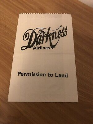 The Darkness Very Rare Sick Bag Permission To Land Justin Hawkins  • 46£