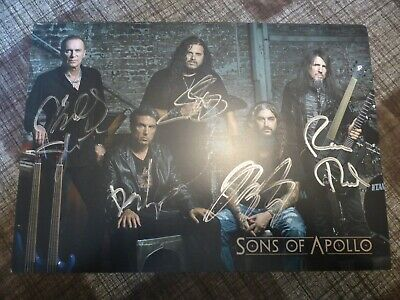 SONS OF APOLLO - Official Autographed / Signed Photo - NEW - Dream Theater • 4.99£