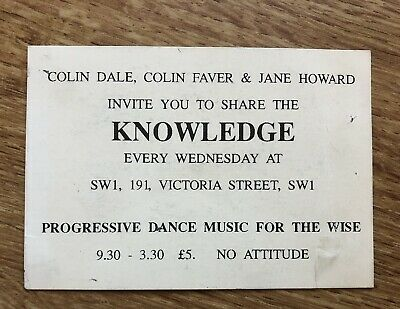 Knowledge Rave Flyer March 1992 SW1  • 2.99£