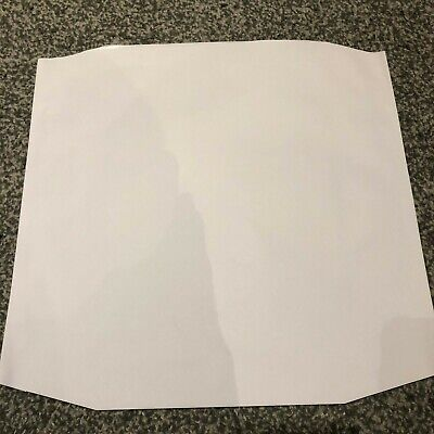 100 12  White Polylined Paper Inner Record Sleeves 'no Centre Hole' *sale* *new* • 14.75£