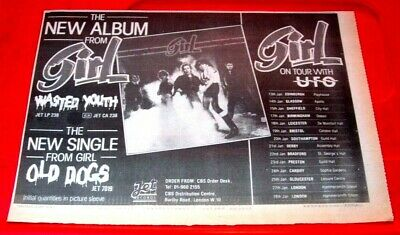 Girl Wasted Youth/Old Dogs/UK Tour Vintage ORIG 1982 Press/Mag ADVERT 11.5 X 8  • 1.99£