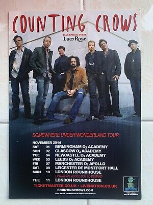 Counting Crows Somewhere Under Wonderland 2014 Tour Flyer (with Lucy Rose) • 3.79£