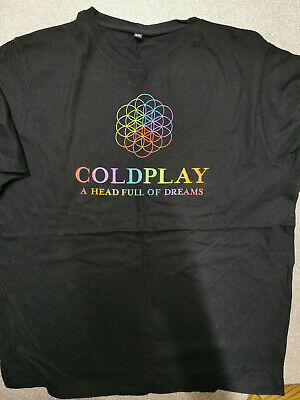 Coldplay Official Head Full Of Dreams 2016 Tour Tshirt.  Size 2XL • 3.30£