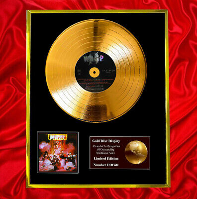 Wasp / Wasp (1st Album) Cd Gold Disc Vinyl Record  Free Shipping To U.k. • 167.97£