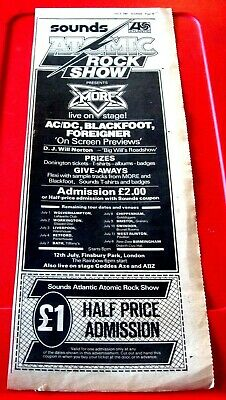 AC/DC/Blackfoot/Foreigner/More/Geddes Axe Vintage ORIG'81 Press/Mag AD 17 X 6.5  • 1.99£