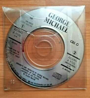 George Michael Kissing A Fool 3  Cd Single In Clear Slipcase 1987 CBS Music • 7.99£