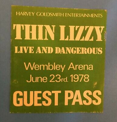 Thin Lizzy - Back Stage Pass 1978 Live And Dangerous  • 19.99£