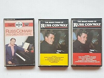 The Greatest Hits & Magic Piano Of Russ Conway - 3 Cassette Tapes - Tested • 6£