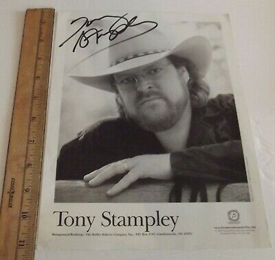 Tony Stampley 2002 Publicity Photo Autographed • 5.67£