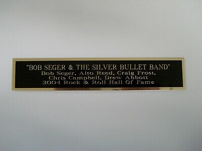 Bob Seger Silver Bullet Band Nameplate For A Signed Concert Poster / Album 1.5X8 • 4.96£