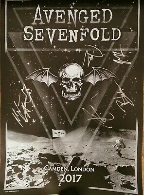 Avenged Sevenfold Hand Signed Poster! • 680£