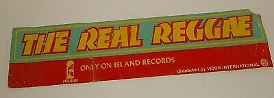 THE REAL REGGAE Only On ISLAND RECORDS Promo Advertising BANNER  • 2.49£