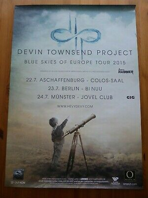 DEVIN TOWNSEND PROJECT Original German Tour Poster - Blue Skies Of Europe 2015 • 3.99£