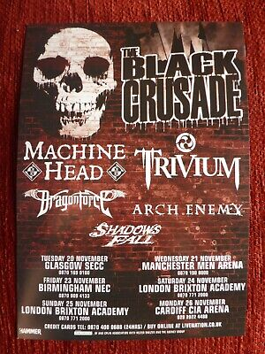 MACHINE HEAD / TRIVIUM / DRAGONFORCE - Official Flyer Black Crusade UK Tour 2007 • 1.99£