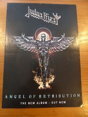 JUDAS PRIEST Official Flyer UK Album Release  Angel Of Retribution  - 2005 - NEW • 1.49£