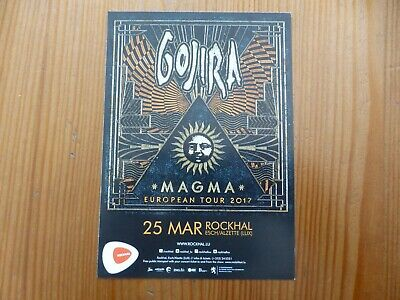 GOJIRA - Magma European Tour / GHOST The Popestar Tour 2017 - Luxembourg Flyer • 1.99£