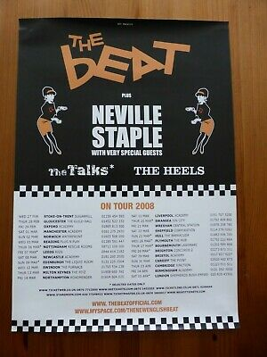 THE BEAT / NEVILLE STAPLE - Official UK Tour Poster 2008 - Great Condition • 3.99£