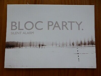 BLOC PARTY - Official Glossy  Silent Alarm  UK Release Sticker 2005 - NEW • 1.99£